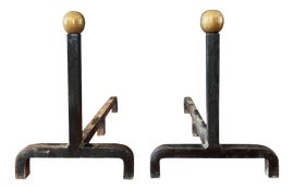 Image of Mid-Century Modern Andirons and Chenets