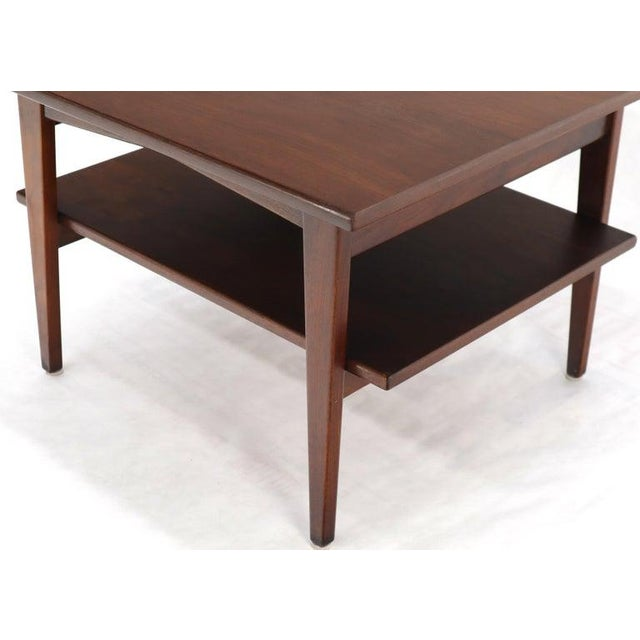 Jens Risom Square Occasional Coffee Side Table Oiled Walnut For Sale - Image 6 of 12