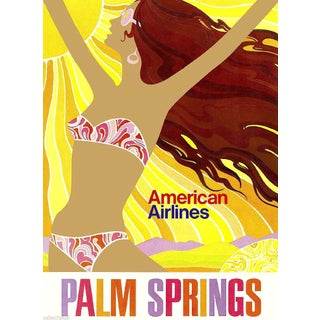 Matted & Framed Palm Springs Travel Poster