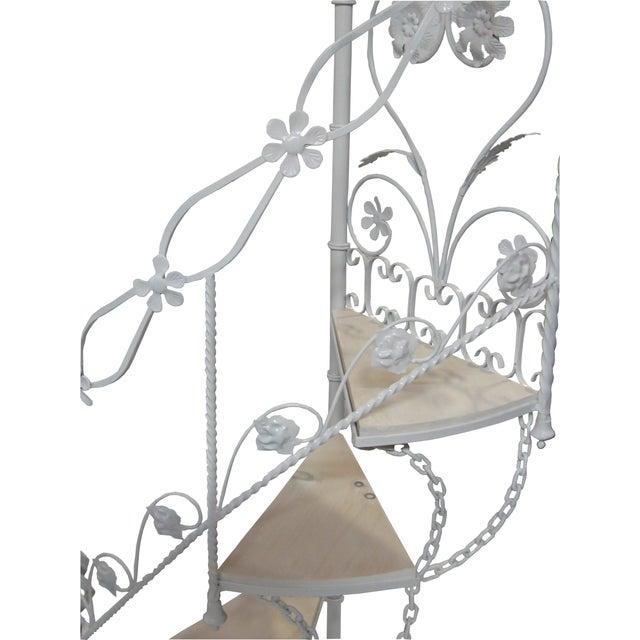 Farmhouse Wrought Iron Garden Staircase Planter Display For Sale - Image 3 of 9