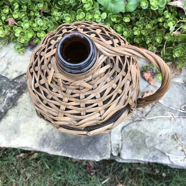 1920s Boho Chic Demijohn Wrapped Rum Jug For Sale - Image 9 of 10