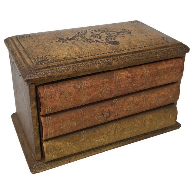 Vintage French Book Style Cigarette Box Desk Organizer For Sale - Image 12 of 12