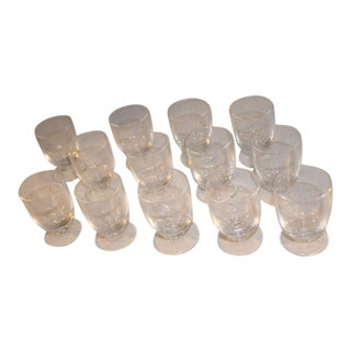 Cordial Glasses Simple With Stem - Set of 13 For Sale