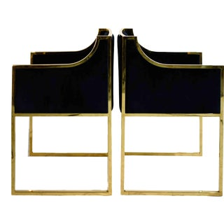 Contemporary Worlds Away Anabelle Chair in Velvet - a Pair For Sale