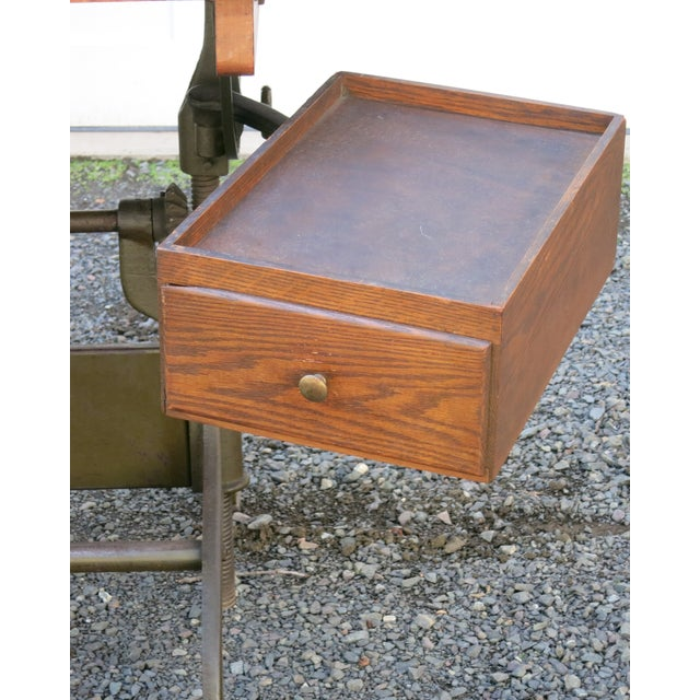 "Beautiful original condition antique Hamilton drafting table. The top is 36"" x 48"" and the base is 26"" x 36"". Operates..."