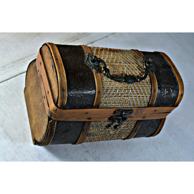Brass & Wood Coffer for Cigars - Image 2 of 7