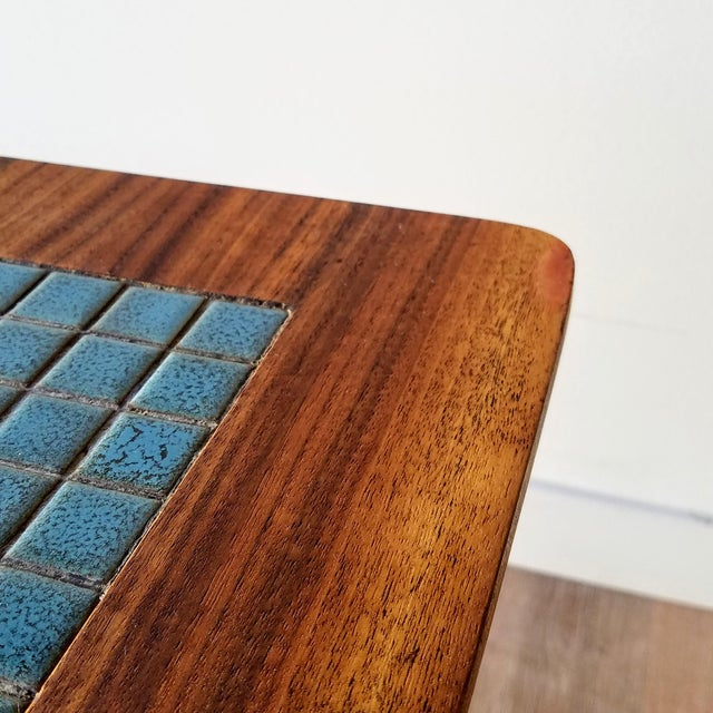 1960s Lane Side Table With Mosaic Tile Inlay For Sale - Image 10 of 13