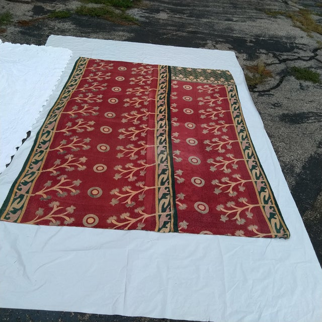 Vintage Indian Reversible Sari Quilt For Sale In Kansas City - Image 6 of 6