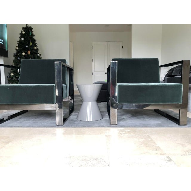 Mid Century Modern Cube Chrome Lounge Chairs - a Pair For Sale In Los Angeles - Image 6 of 8