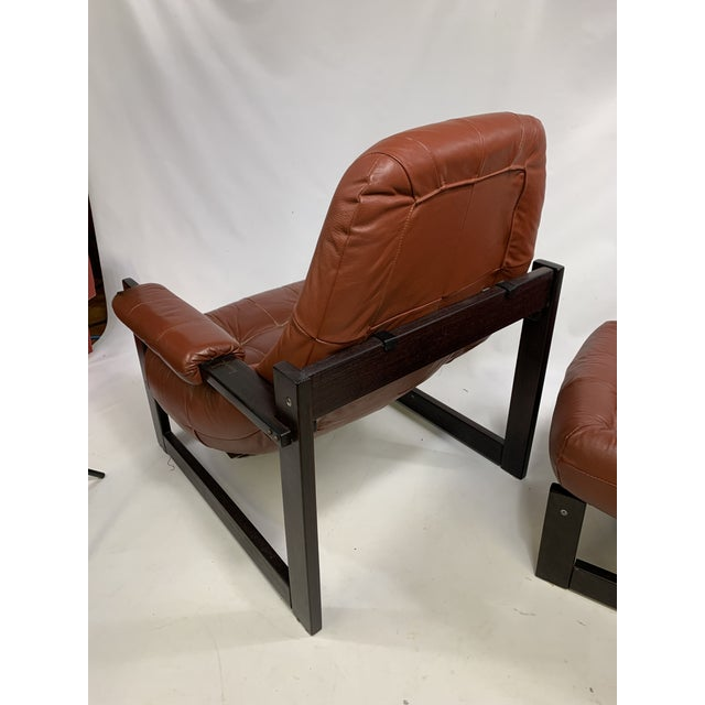 Percival Lafer Brazilian Rosewood Lounge Chair & Footstool For Sale - Image 11 of 13