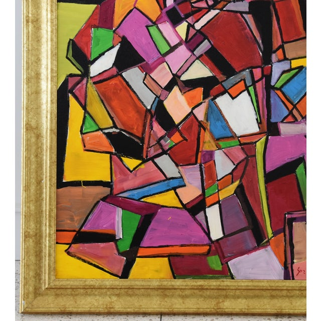 Juan Guzman Original Colorful Abstract Painting For Sale In Los Angeles - Image 6 of 10