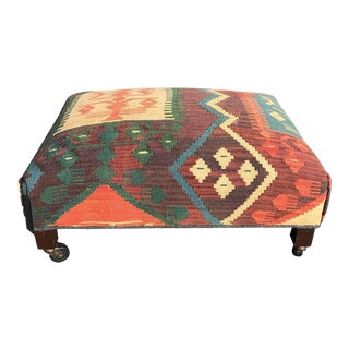 Turkish Kilim Ottoman For Sale