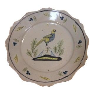 Decorative Ceramic Bowl With Bird For Sale