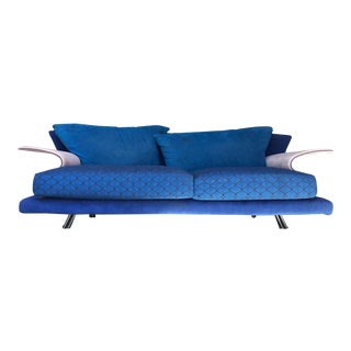 Post Modern Giorgio Saporiti Memphis Style Sofa For Sale