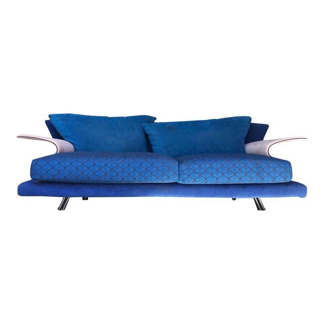 Post Modern Giorgio Saporiti Memphis Style Sofa For Sale