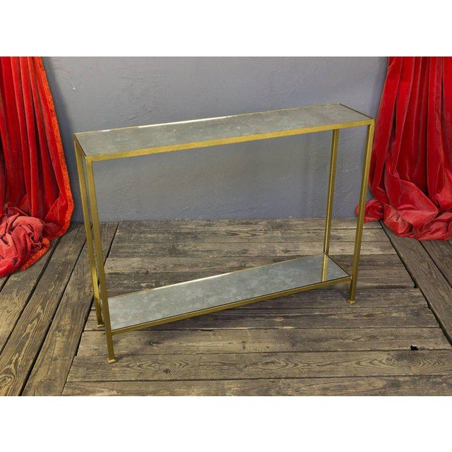Custom-made Marcelo Console Table With Antique Mirror Shelving - Image 9 of 10