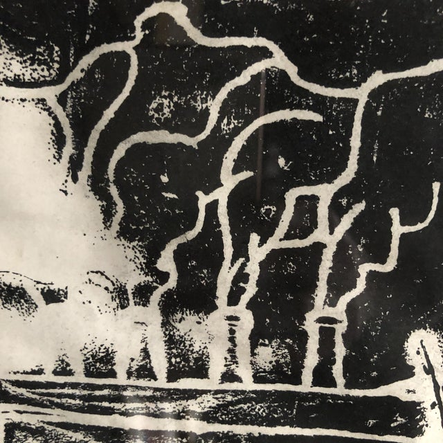 """1980s Chinese Student Woodcut """"My Polluted Homeland"""" For Sale - Image 4 of 8"""