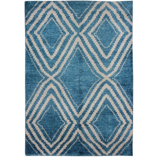 "Hand Knotted Bamboo Rug - 7'0"" X 5'0"" For Sale"