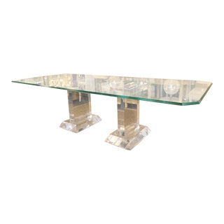 Spectrum Lusaka Lucite Dining Table Bases- a Pair For Sale