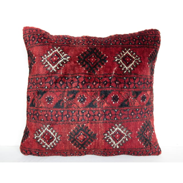 Blue Turkish Decorative Rug Pillow Cover For Sale - Image 8 of 8