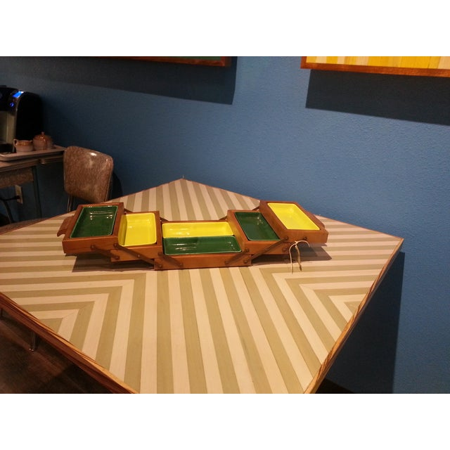 Gold Chevron Dining Table - Image 4 of 4