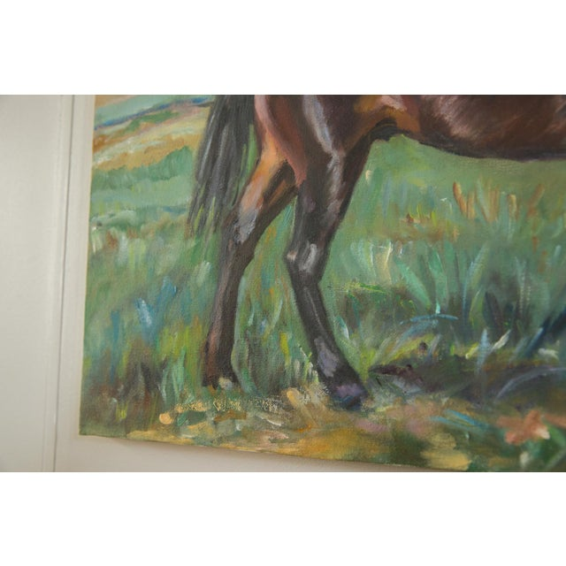 """Americana Grace B. Keogh """"Brown Horse"""" Painting For Sale - Image 3 of 8"""