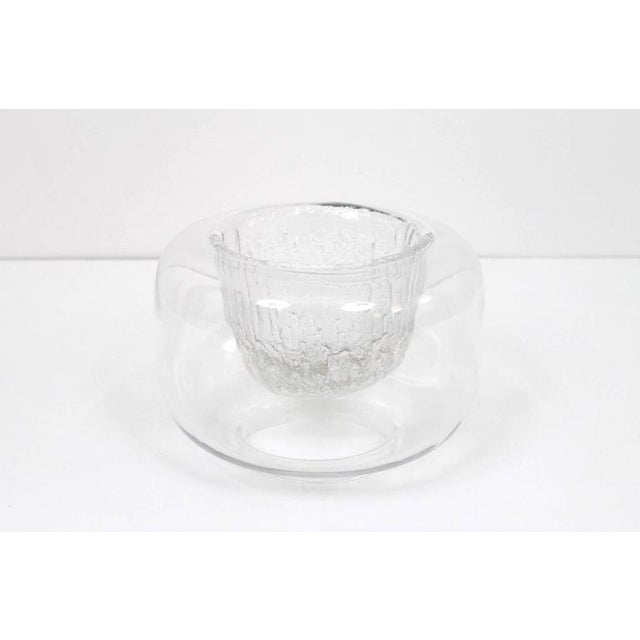 "Mid-Century Modern Large Timo Sarpaneva Iittala ""Finlandia"" Glass Bowl For Sale - Image 3 of 11"