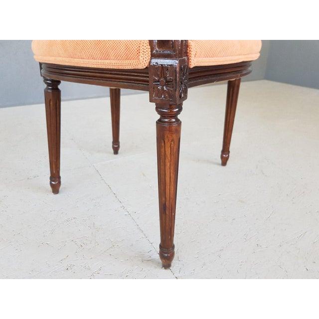 Louis XVI Velvet Upholstery Arm Chair For Sale - Image 12 of 13