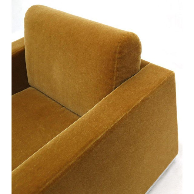 Pair of Mohair Club Chairs Ward Bennett for Brickel For Sale - Image 10 of 13