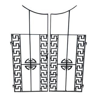 Hollywood Regency Wrought Iron Gates For Sale