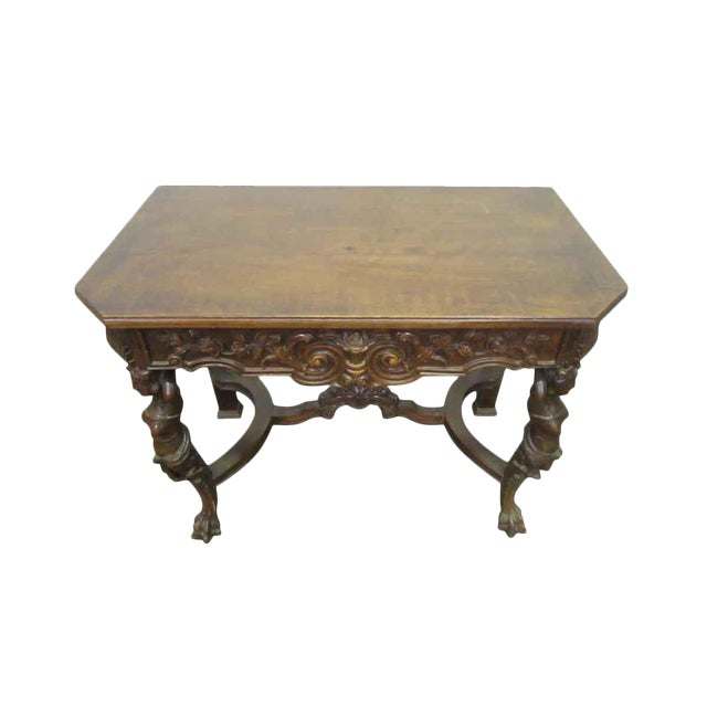 Bear Claw Wooden Console Table For Sale