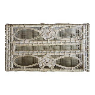Woven Wicker Tissue Box Cover For Sale