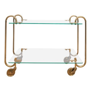Fontana Arte Brass Bar Cart For Sale