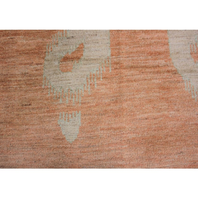 """Modern Hand Knotted Ikat Rug by Aara Rugs Inc. 9'2"""" X 11'9"""" For Sale - Image 3 of 5"""