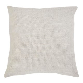 """Hendrick 20"""" Pillow with Insert in Cream For Sale"""