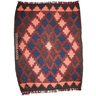 Vintage Afghan Kilim - 1.9' X 2' For Sale