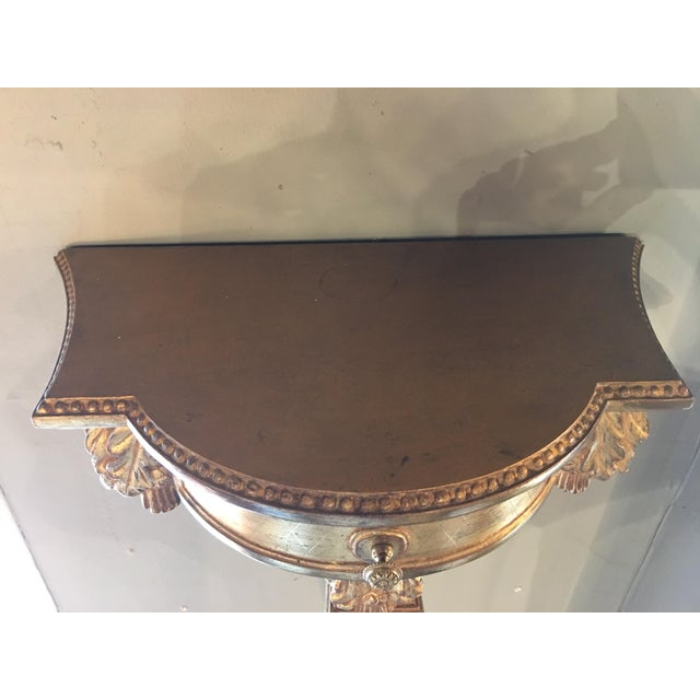 Gilded Hanging Wall Console For Sale - Image 4 of 8