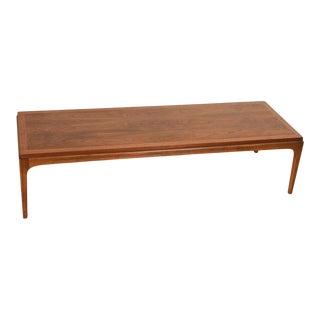 Mid Century Modern Walnut Coffee Table For Sale