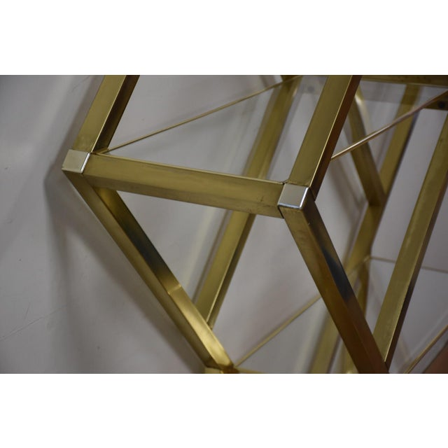 Milo Baughman Style Brass Etagere For Sale In Boston - Image 6 of 9