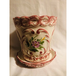Late 20th Century Hand Painted Rccl Portugal Flower Pot & Tray Preview