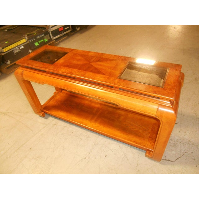 Mid-Century Mod Floating-Top Console For Sale - Image 4 of 6
