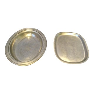 Pewter Plate and Dish - A Pair
