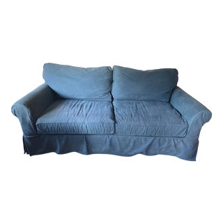 Pottery Barn Comfort Roll Arm Slipcovered Sofa For Sale