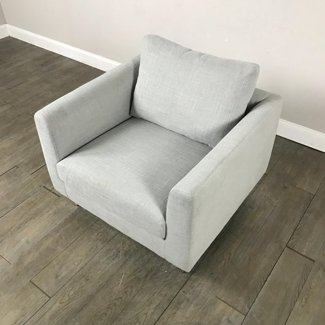 Clean Lined Modern Armchair - Image 4 of 11