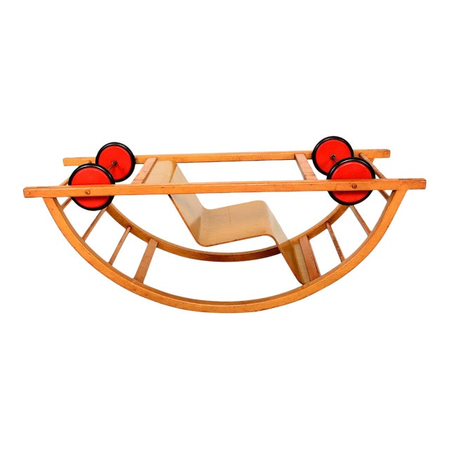 Vintage Schaukelwagen Swing and Race Car Toy, Midcentury For Sale