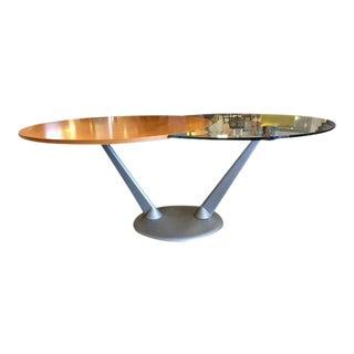 Custom Italian Wood & Metal Expanding Table