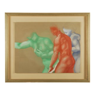 Classical Figure Study Original Artwork in Pastel For Sale