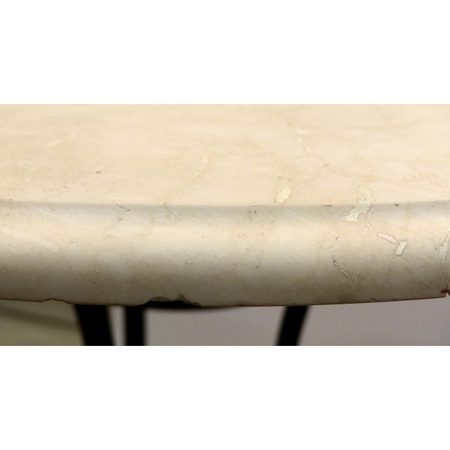 Wrought Iron Bistro Table W/ a Stone Top For Sale In Miami - Image 6 of 6