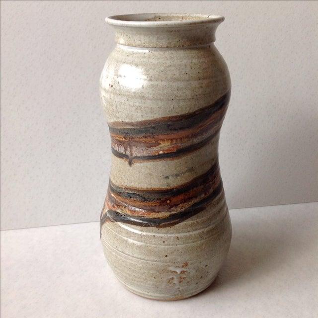 Studio Pottery Neutral Tone Glazed Vase - Image 6 of 11