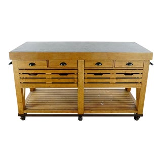 Industrial William Sonoma Cooper Kitchen Island